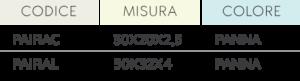 ultrafresh misure codici